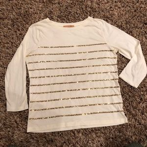 Ellen Tracy - striped sequin shirt